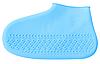 Силиконовые водонепроницаемые бахилы для обуви многоразовые - голубые S, фото 4