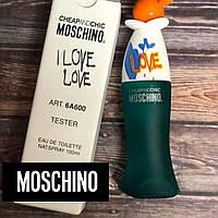 100 ml Tester Moschino I Love Love Wom. Eau de Toilette   Тестер Женская туалетная вода Мошино Лав Лав100 мл
