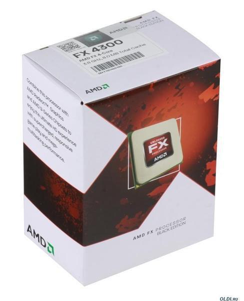 Процессор AMD FX-4300 FD4300WMHKBOX X4 3.8GHz s.AM3+ Tray  Б/У