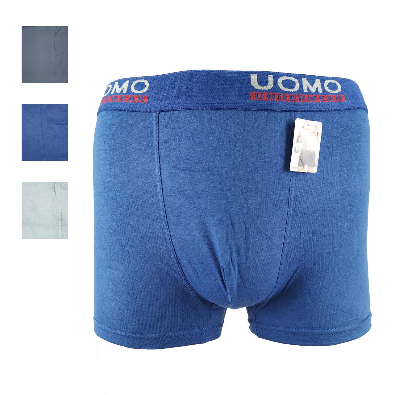 Трусы мужские боксёры UOMO B-001 хлопок (ростовка XL-2XL-3XL-4XL) 20035464