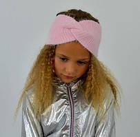Стильна, красива пухнаста дитяча практична пов'язка на голову рожевий