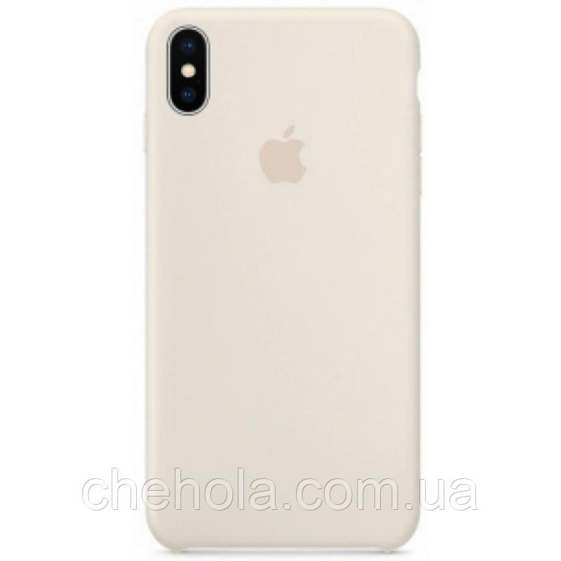 Чехол на iPhone X XS  Силиконовый противоударный Silicone Case Antique Белый