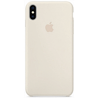 Iphone X XS Силиконовый чехол накладка Apple Silicone Case бампер HC Antique Белый
