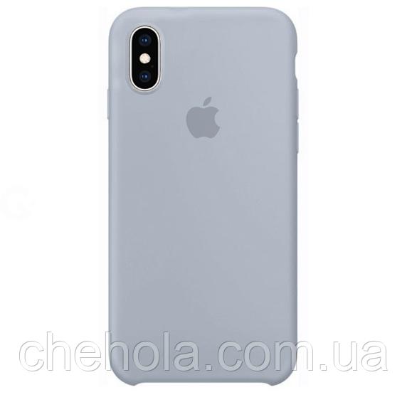 Силіконовий чохол Iphone X XS Silicone Case накладка на бампер Blue Mist