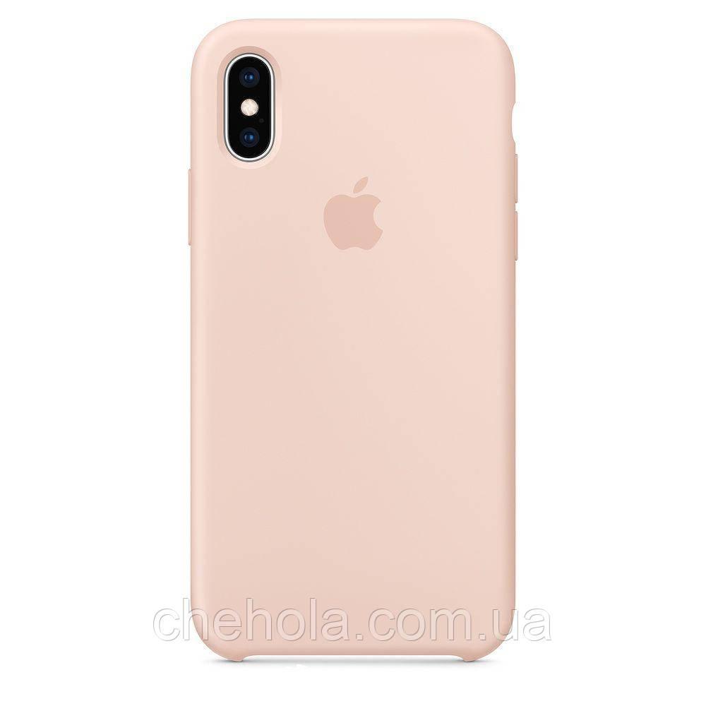 Силіконовий чохол Iphone X XS Silicone Case накладка на бампер Pink Рожевий