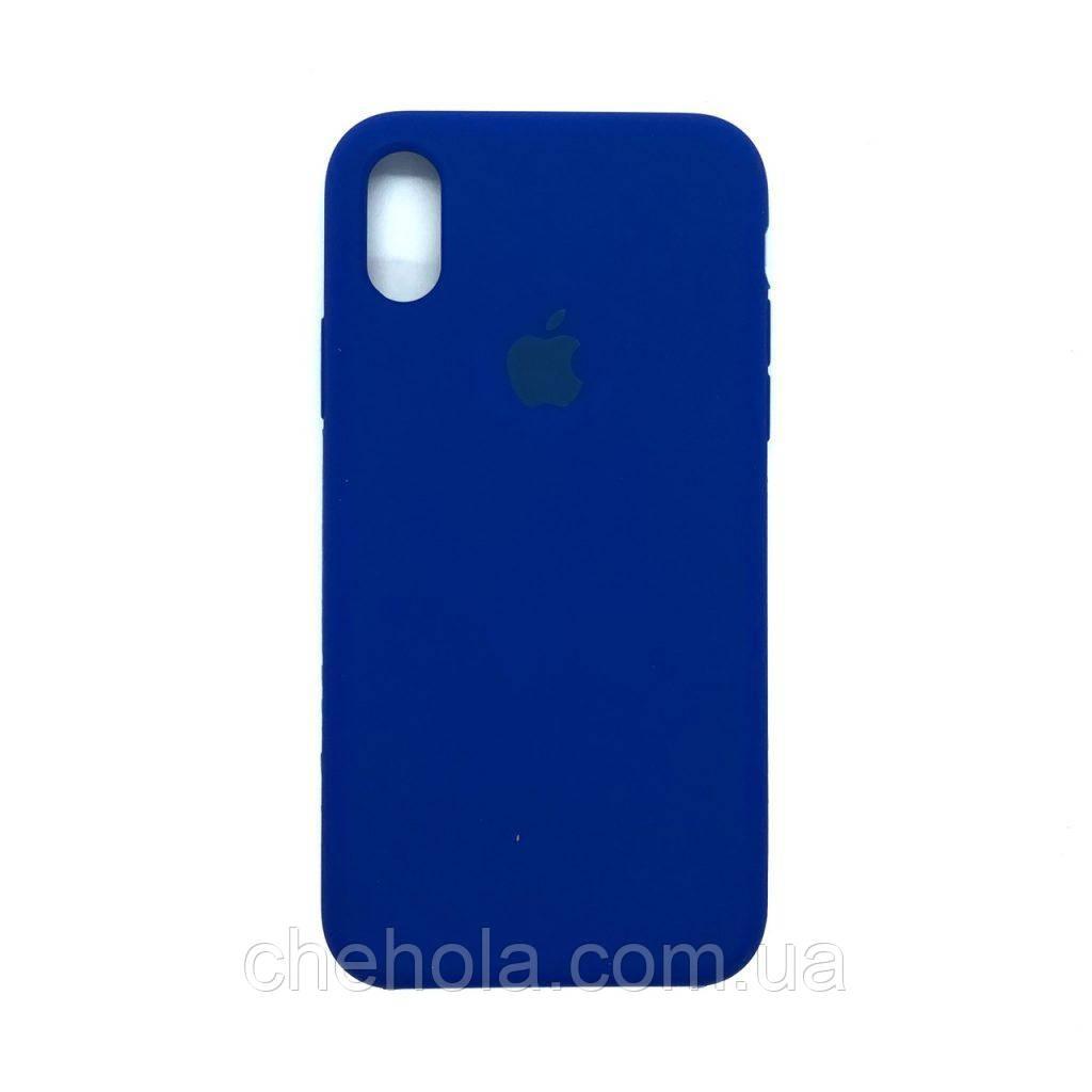 Силіконовий чохол Iphone X XS Silicone Case накладка на бампер Jewel Blue Синій
