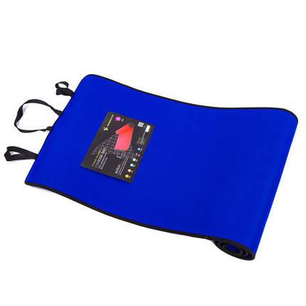 Килимок для йоги та фітнесу синій EVA, IronMaster 180x60x0.6см, фото 2