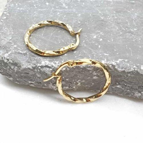 Сережки-кільця у вуха з ювелірної стали 176384