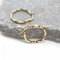 Сережки-кільця у вуха з ювелірної стали 176384, фото 1
