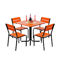 "Комплект мебели для сада ""Рио"" стол (80*80) + 4 стула Тик, фото 1"