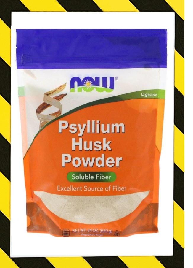 Now Foods, Порошок из шелухи семян подорожника, Psyllium = Псиллиум  подорожник 680 г