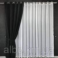 Штори з мікровелюру в кімнату спальню зал квартиру, штори на кільцях в будинок спальню дитячу зал, готові штори для кухні спальні, фото 5