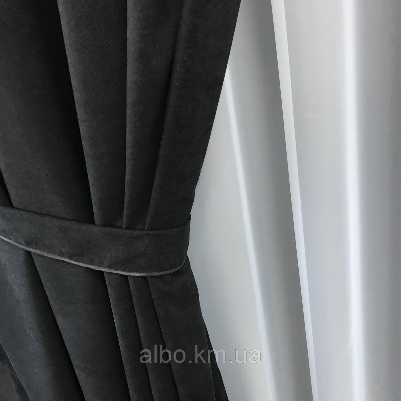 Штори з мікровелюру в кімнату спальню зал квартиру, штори на кільцях в будинок спальню дитячу зал, готові штори для кухні спальні