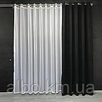 Штори з мікровелюру в кімнату спальню зал квартиру, штори на кільцях в будинок спальню дитячу зал, готові штори для кухні спальні, фото 6