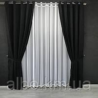 Штори з мікровелюру в кімнату спальню зал квартиру, штори на кільцях в будинок спальню дитячу зал, готові штори для кухні спальні, фото 3