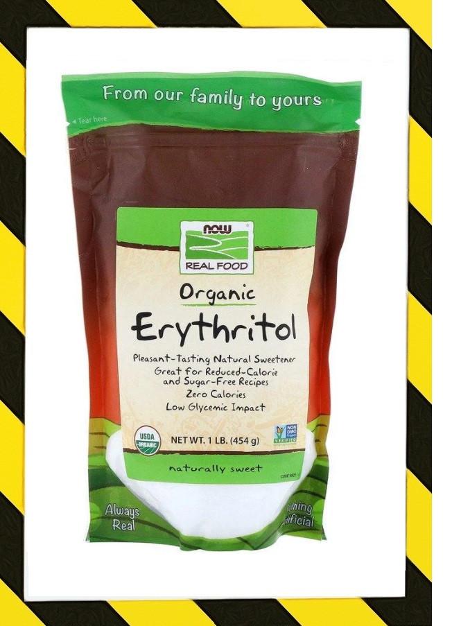Now Foods, Real Food, органический эритритол из кукурузы, USDA organic 454 г