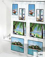 Шторка для ванної кімнати Будинок на всі 100 Lagoon 180х180 см