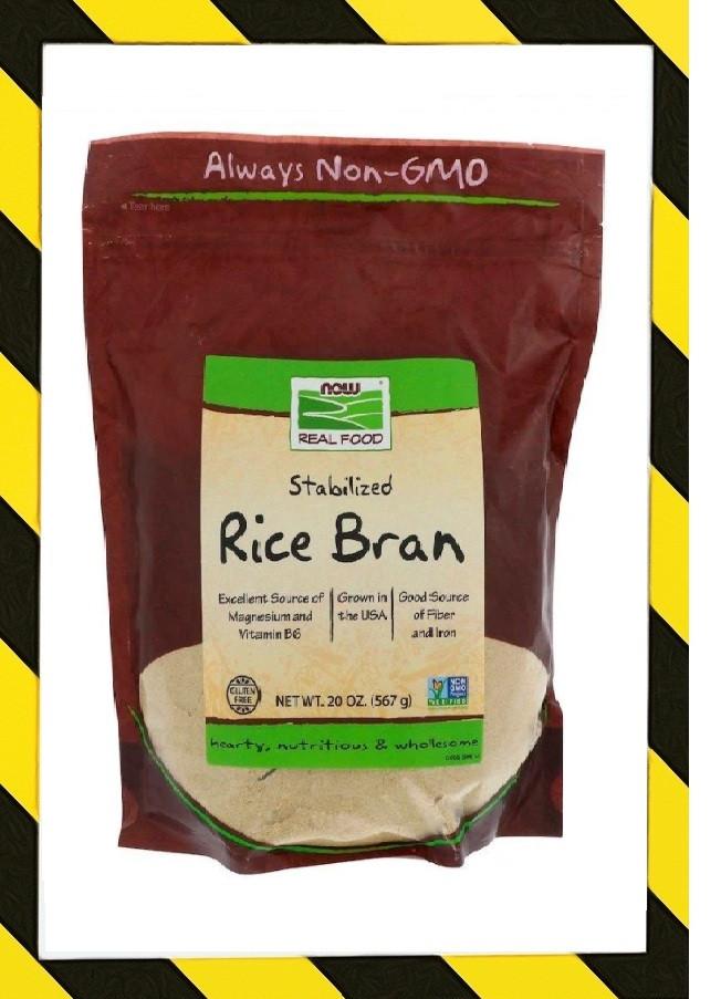 Now Foods, Real Food, стабилизированные рисовые отруби, Клетчатка из риса 567г