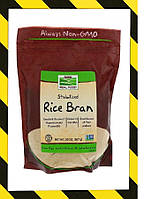 Now Foods, Real Food, стабилизированные рисовые отруби, Клетчатка из риса 567г, фото 1