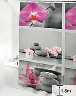 Шторка для ванної кімнати Будинок на всі 100 Orchid 180х180 см