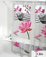 Шторка для ванной комнаты Дом на все 100 Lily 180х180 см