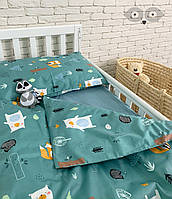 """Комплект детской постельки в кроватку / Комплект дитячої постільки для ліжка """"Загадковий ліс"""" /"""