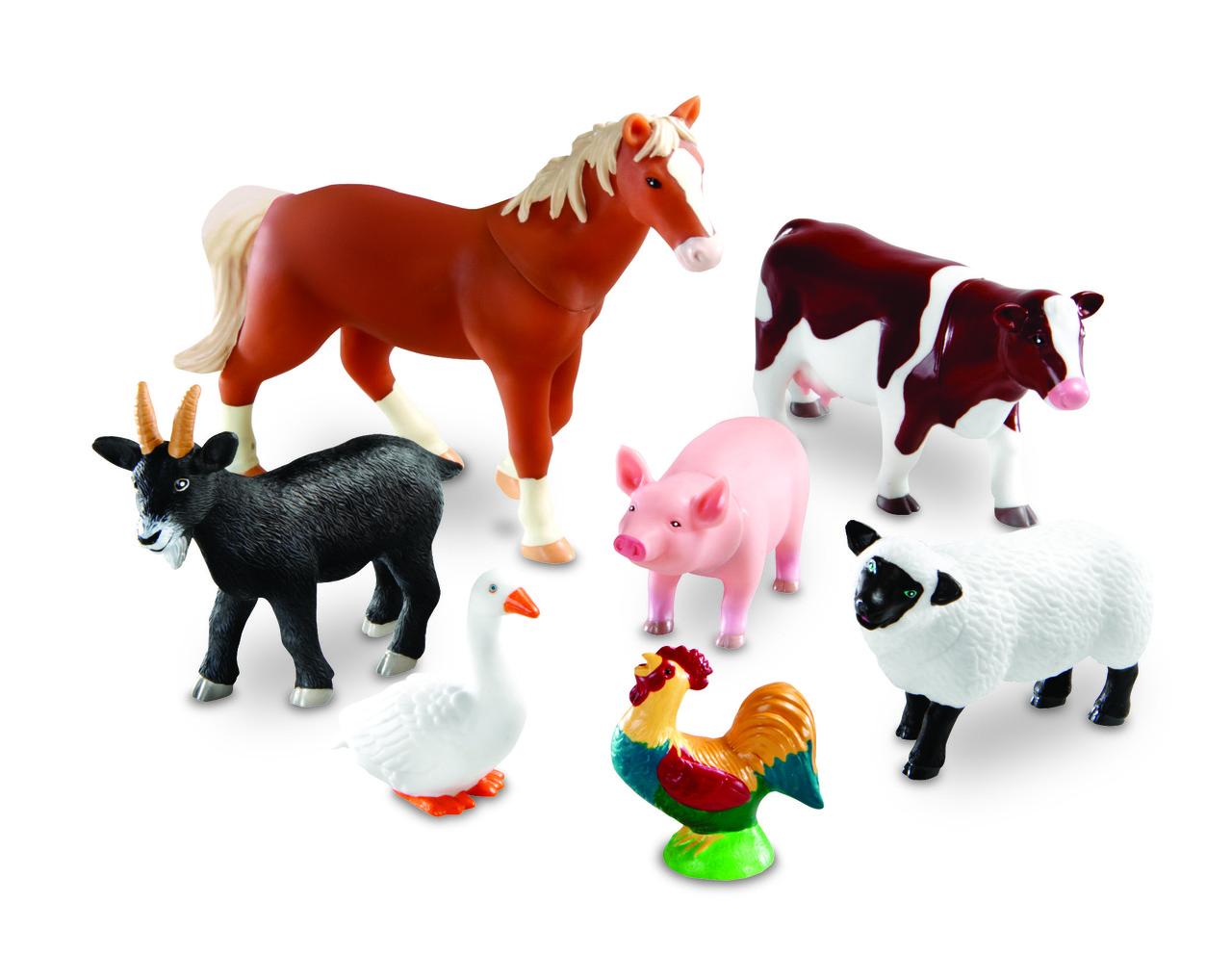 """Набор больших реалистичных животных  """"Ферма"""" Learning Resources"""