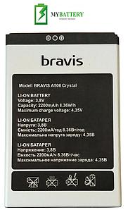 Оригинальный аккумулятор АКБ батарея Bravis A506 Crystal Li-ion 3.8V 2200mAh