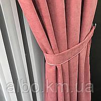 Портьеры на люверсах из микровелюра 200x270 cm (1 шт) ALBO Розовая  (SH-Petek-214), фото 8