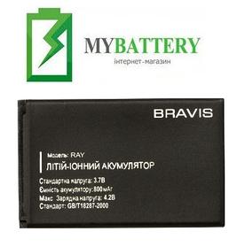 Оригинальный аккумулятор АКБ батарея BRAVIS Ray 800mAh 3.7V
