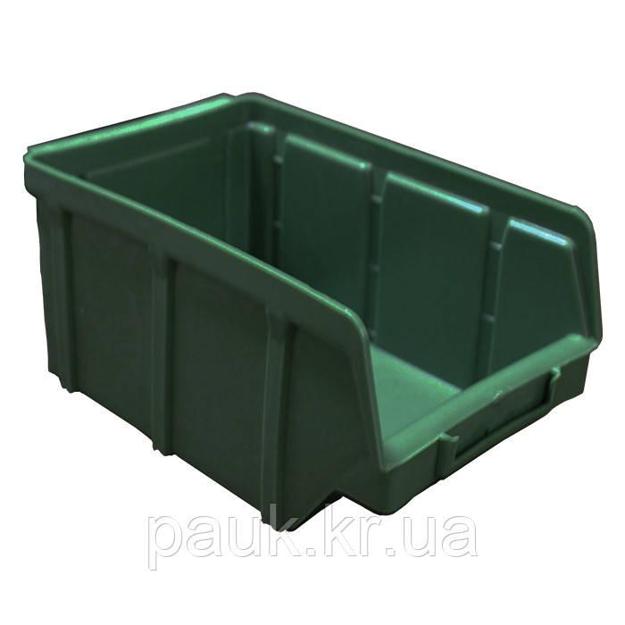 Ящик метизний 702 В/С, пластиковий складський ящик для зберігання, із вторинної сировини