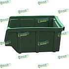 Ящик метизний 702 В/С, пластиковий складський ящик для зберігання, із вторинної сировини, фото 2