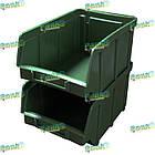 Ящик метизний 702 В/С, пластиковий складський ящик для зберігання, із вторинної сировини, фото 3