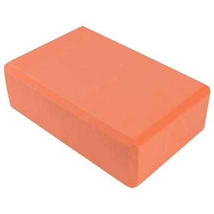 Йога блок оранжевый, 23х15х7.5см, вес 175гр, фото 2