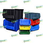 Ящик метизний 702 В/С, пластиковий складський ящик для зберігання, із вторинної сировини, фото 8