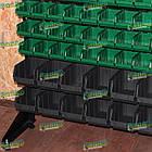 Ящик метизний 702 В/С, пластиковий складський ящик для зберігання, із вторинної сировини, фото 10