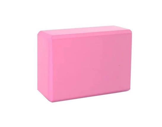 Йога блок розовый, 23х15х7.5см, вес 175гр, фото 2