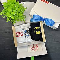 """Подарочный набор мужской носки 3 шт """"Супергерои"""" Rock'n'socks"""
