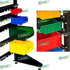 Ящик для метизов 702 В/С, пластиковый торговый ящик, из вторичного сырья, фото 3