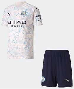 Футбольна форма Манчестер Сіті (Man City), резервна/біла сезон 20/21