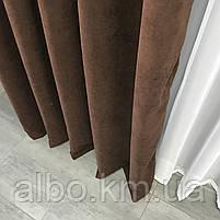 Готові штори на вікна в спальню дитячу кімнату квартиру, штори з мікровелюру для залу спальні вітальні кімнати, штори на люверсах, фото 8
