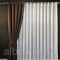 Готові штори на вікна в спальню дитячу кімнату квартиру, штори з мікровелюру для залу спальні вітальні кімнати, штори на люверсах, фото 5