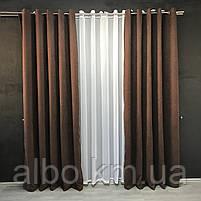 Готові штори на вікна в спальню дитячу кімнату квартиру, штори з мікровелюру для залу спальні вітальні кімнати, штори на люверсах, фото 3