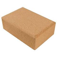 Йога блок пробковый, 23х15х7.5см, вес 700гр