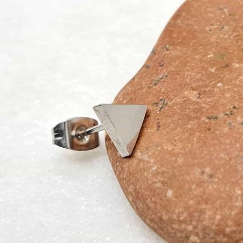 Сережки-гвоздики сталеві трикутники у вуха 176388