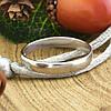 Серебряное обручальное кольцо вес 2.1 г размер 19, фото 3