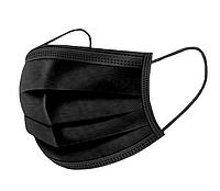 Маска защитная трехслойная Premium, черная