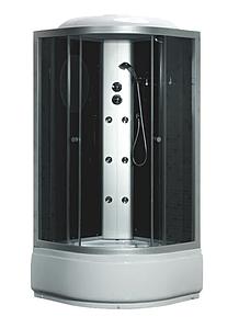 Гідробокс Fabio 100х100 тоноване скло, глибокий піддон, TMS-885/40 Black без електроніки