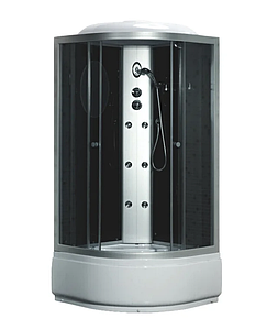 Гідробокс Fabio 100х100 Black з електронікою, тоноване скло, глибокий піддон, TMS-885/40