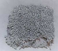 Тычинки Серебристые с блестками на нитке 3 мм 1700 шт/уп, фото 1